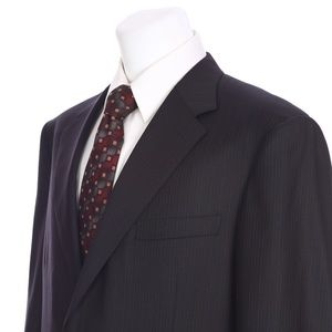 Canali Italian Two Button Gray Brown Suit Jacket